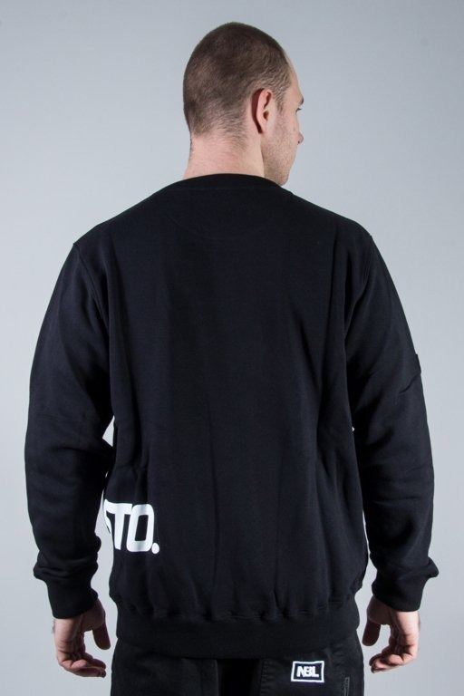 PROSTO CREWNECK ZIP TRANSFER BLACK