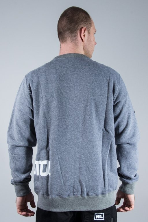 PROSTO CREWNECK ZIP TRANSFER GREY