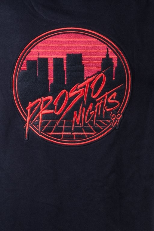 PROSTO HOODIE ZIP NIGHTS BLACK