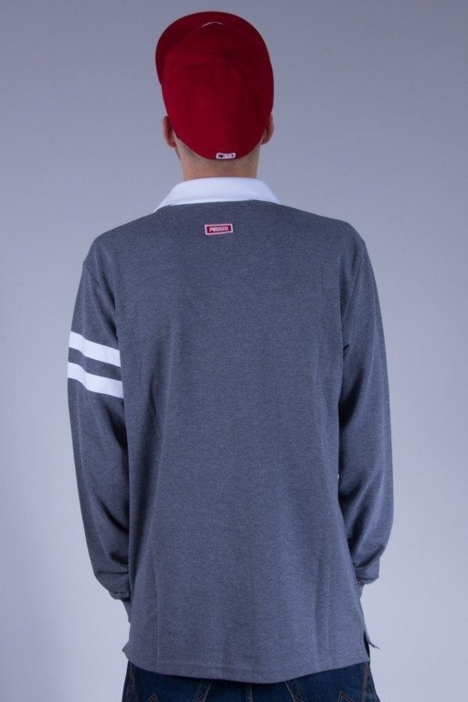 PROSTO LONGSLEEVE POLO RUGBY GREY
