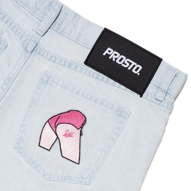 PROSTO PANTS JEANS WOMEN SLIM BLUE