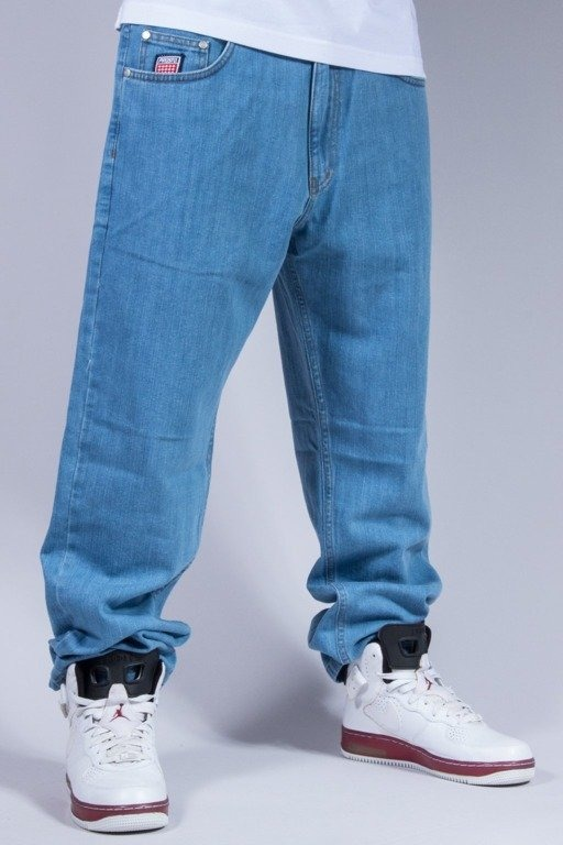 PROSTO SPODNIE JEANS FALVOUR BAGGY LIGHT BLUE