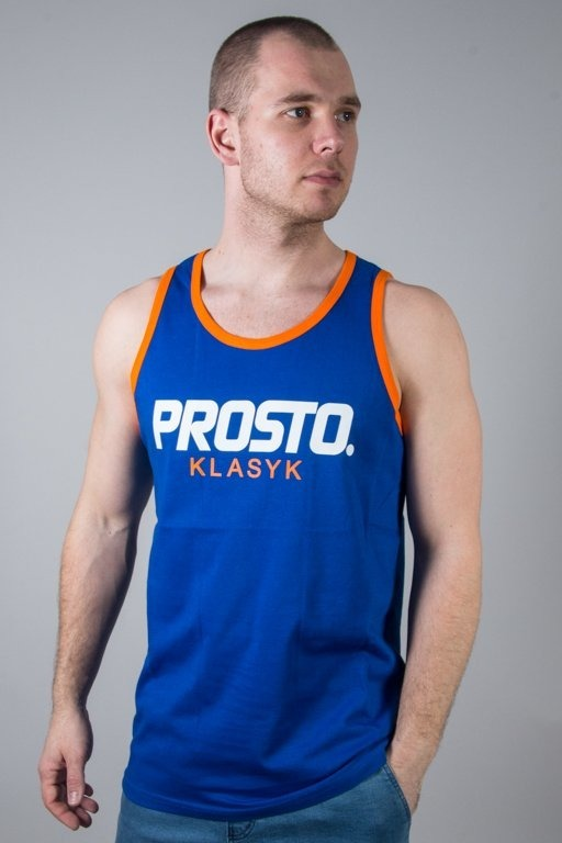 PROSTO TANK TOP CAPTION BASIC BLUE