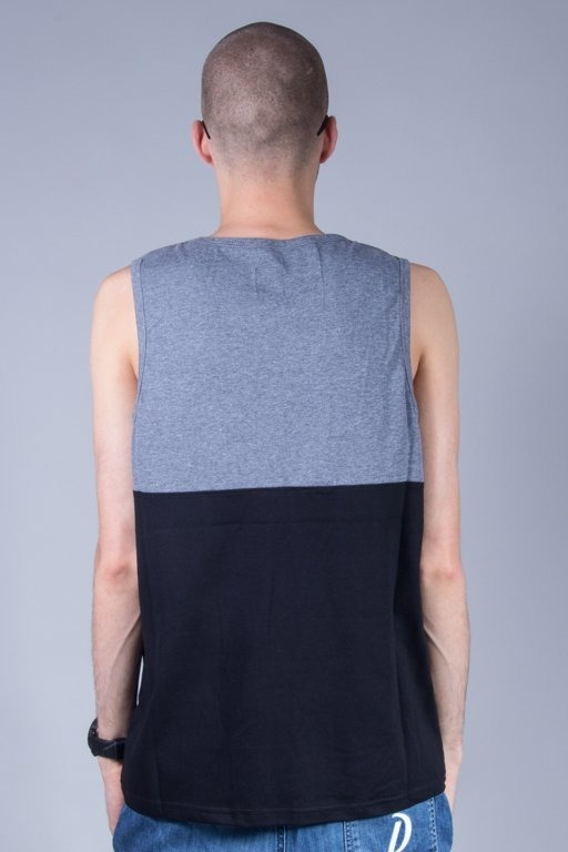 PROSTO TANK TOP DIVIDE GREY-BLACK