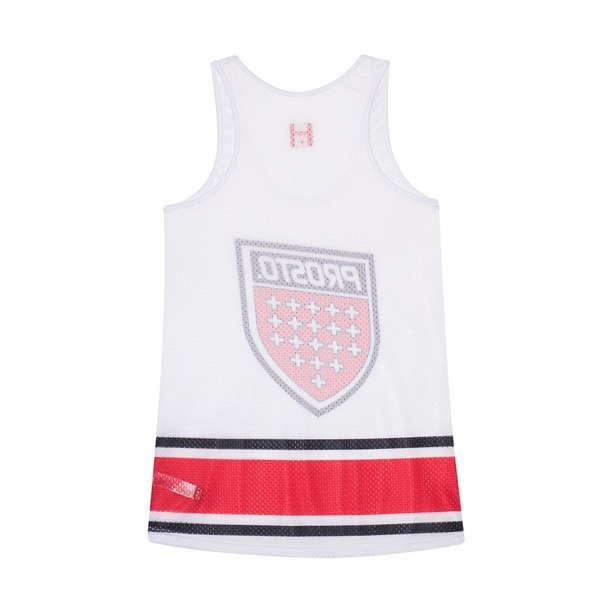 PROSTO TANK TOP WOMAN BULL WHITE