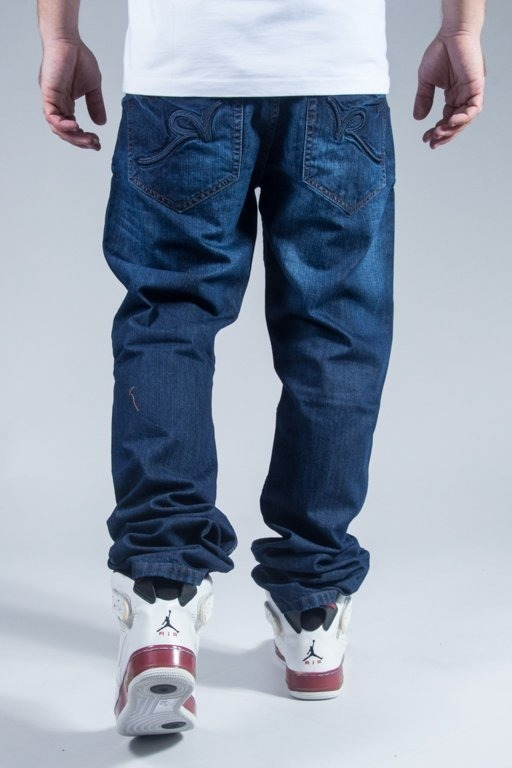 ROCAWEAR PANTS JEANS RELAXED FIT MID BLUE