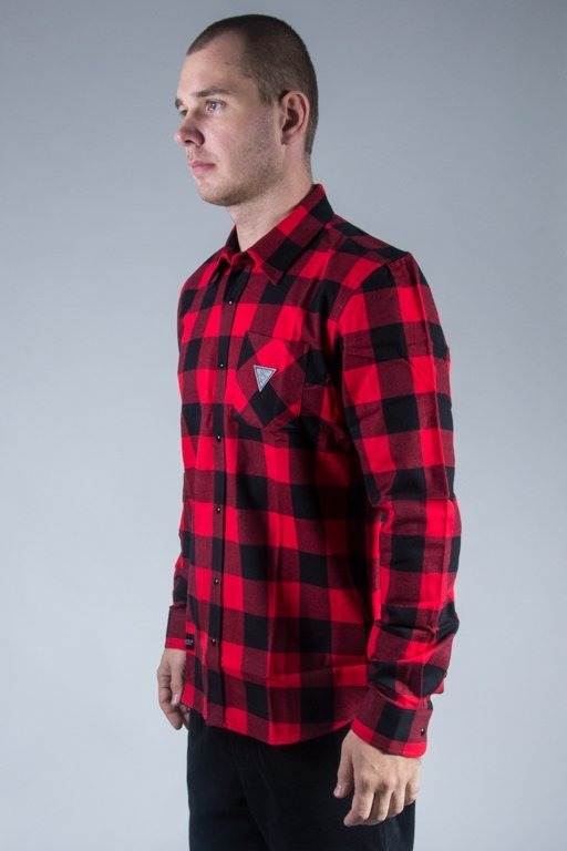 ROCAWEAR SHIRT WOVEN BLACK-RED