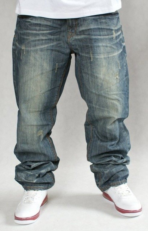 ROCAWEAR SPODNIE JEANS DOUBLE R WILD WEST WASH