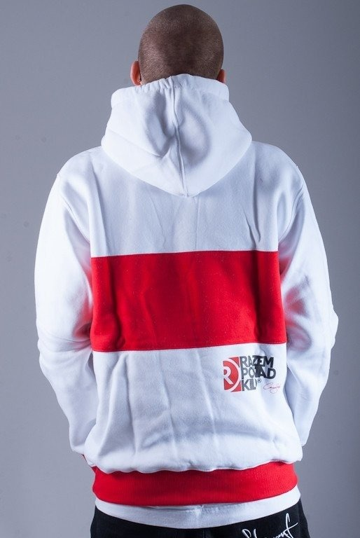 RPK BLUZA Z KAPTUREM SPORT NAP WHITE-RED