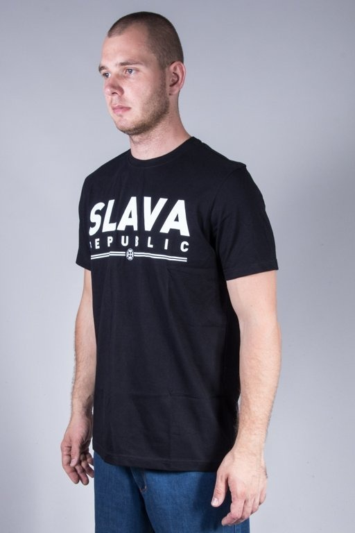 SLAVA REPUBLIC T-SHIRT NAPIS BLACK