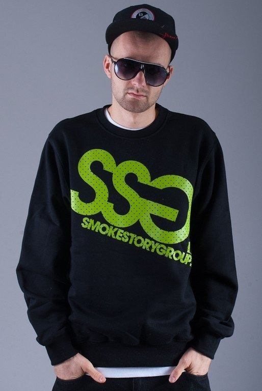 SSG BLUZA BEZ KAPTURA BIG BLACK-GREEN