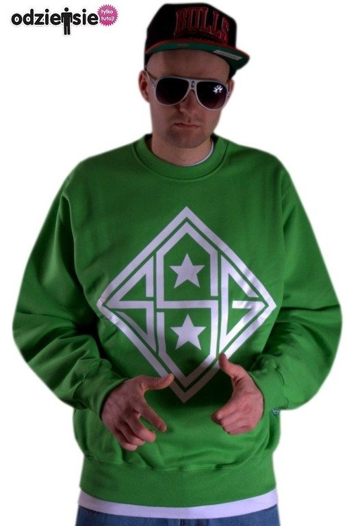 SSG BLUZA BEZ KAPTURA STAR GREEN