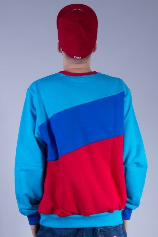 SSG BLUZA BEZ KAPTURA TRIPLE BIG BLUE-RED