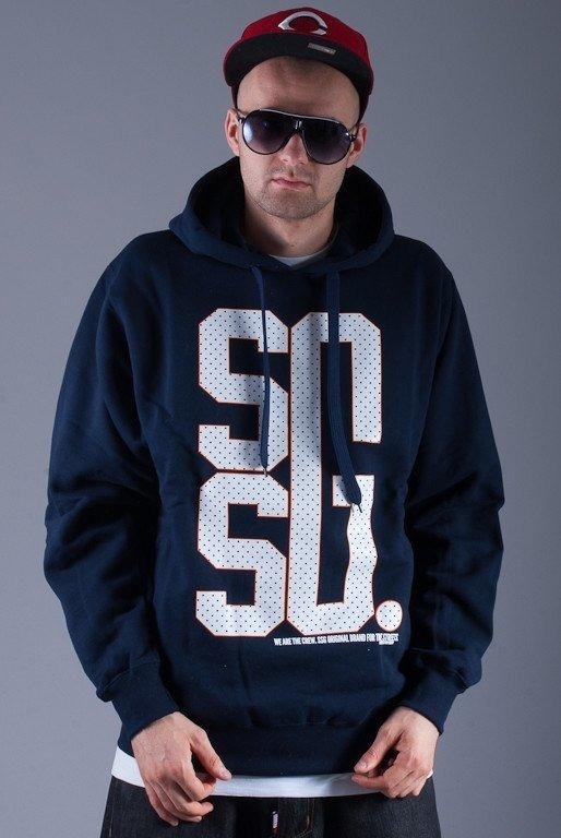 SSG BLUZA Z KAPTUREM BIG G NAVY BLUE