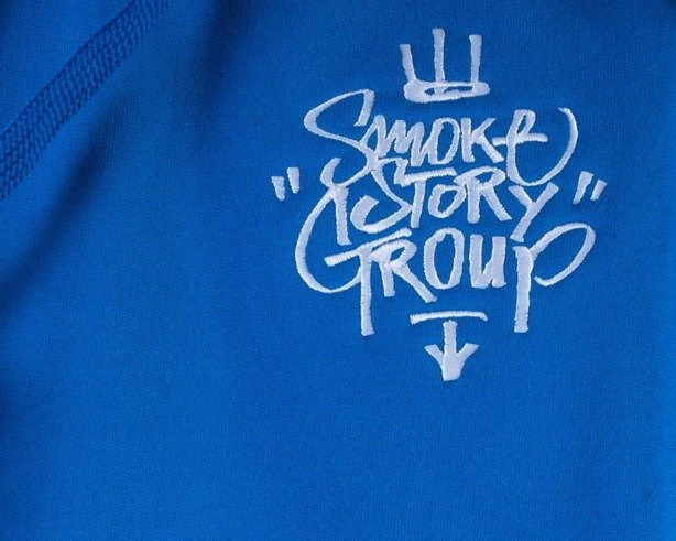 SSG BLUZA Z KAPTUREM CALIGRAPHY KING BLUE