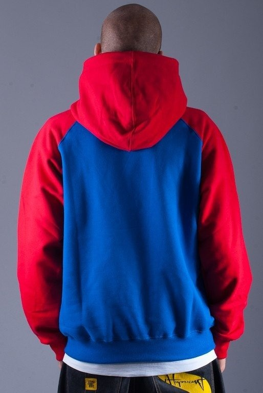 SSG BLUZA Z KAPTUREM DOUBLE S BLUE-RED