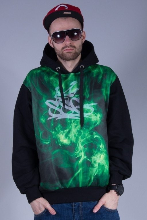 SSG BLUZA Z KAPTUREM GREEN SMOKE BLACK
