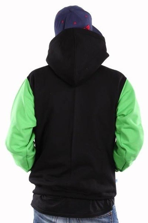 SSG BLUZA Z KAPTUREM HORIZONTAL BLACK-GREEN