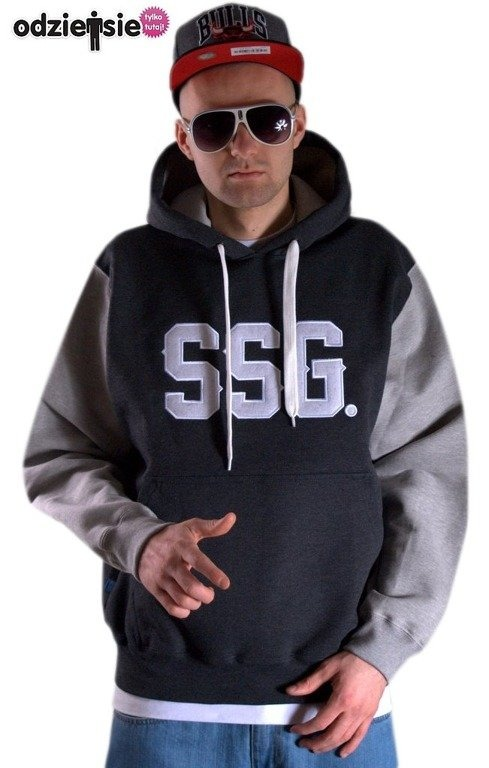 SSG BLUZA Z KAPTUREM HORIZONTAL GREY