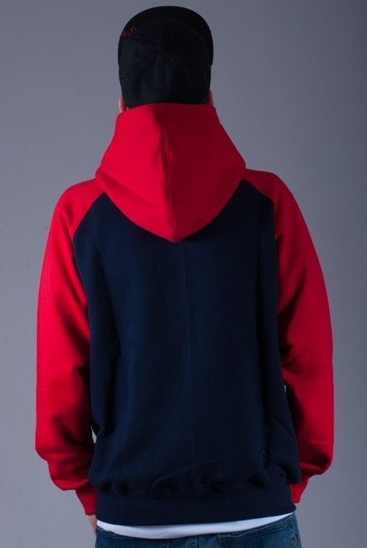 SSG BLUZA Z KAPTUREM REGLAN SMALL NAVYBLUE-RED