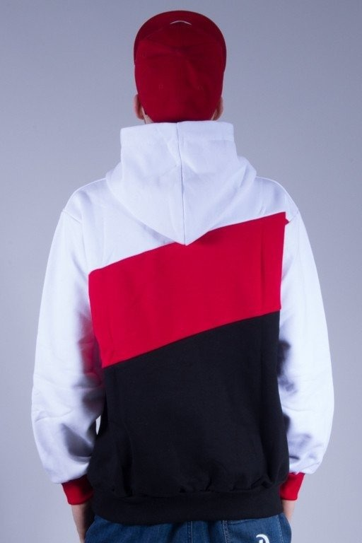SSG BLUZA Z KAPTUREM TRIPLE BIG WHITE-RED