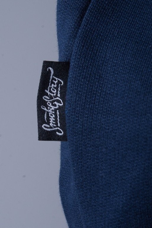SSG BLUZA Z KAPTUREM ZIP CALIGRAPHY NAVY BLUE