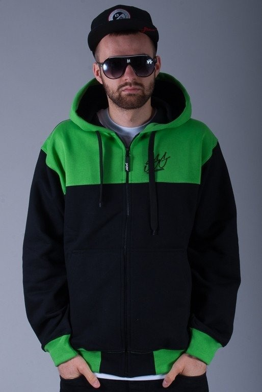 SSG BLUZA Z KAPTUREM ZIP DOUBLE SSG BLACK-GREEN