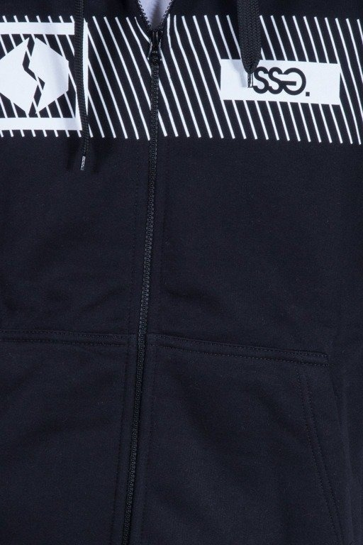 SSG BLUZA Z KAPTUREM ZIP MULTI LINES BLACK