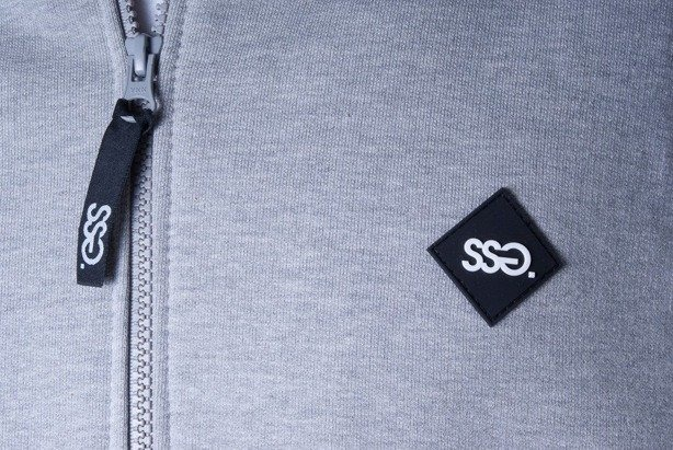 SSG BLUZA Z KAPTUREM ZIP SMALL SQUARE MELANGE