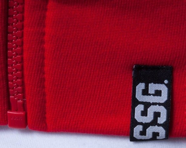 SSG BLUZA Z KAPTUREM ZIP SMALL SQUARE RED