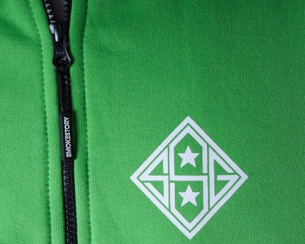 SSG BLUZA ZIP STAR BLACK-GREEN