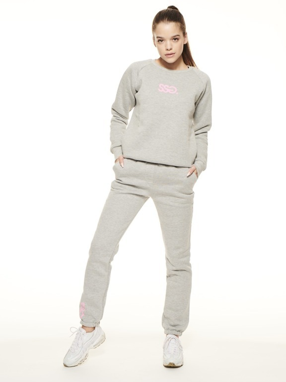 SSG GIRLS SWEATSHIRT CANDY COLORS GREY