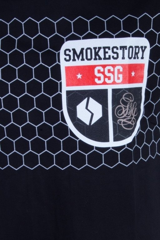 SSG KOSZULKA SLIM FIT HERB  BLACK