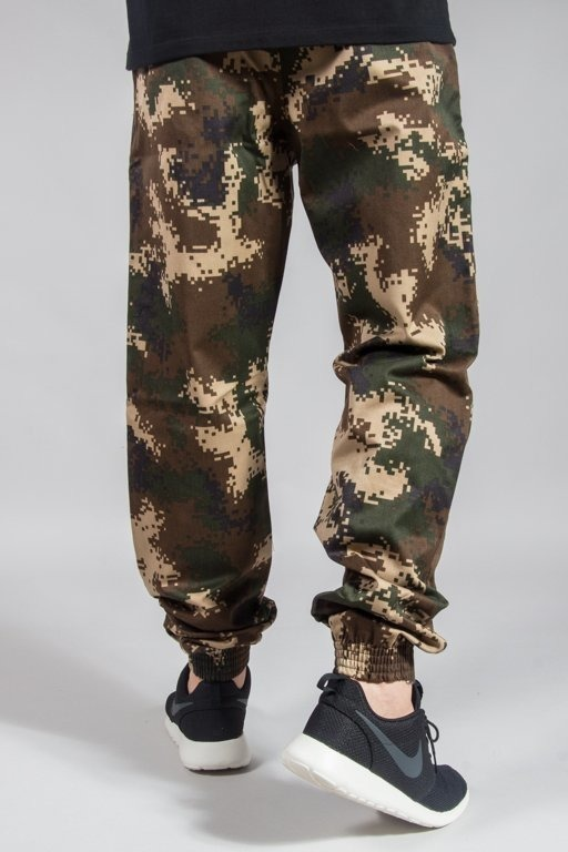 SSG PANTS CHINO JOGGER REGULAR MORO PIXEL BROWN