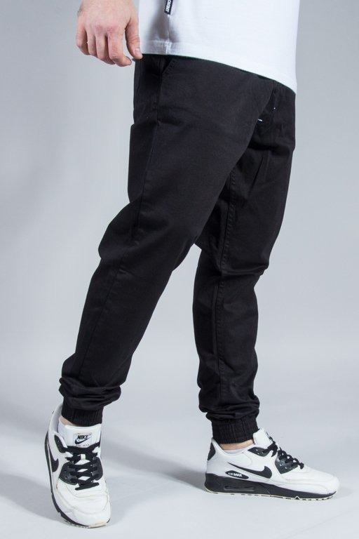 SSG PANTS CHINO JOGGER SLIM KLASYK BLACK