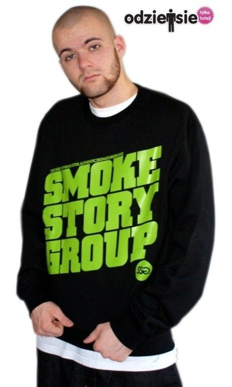 SSG SMOKE STORY BLUZA SM GROUP BLACK-GREEN