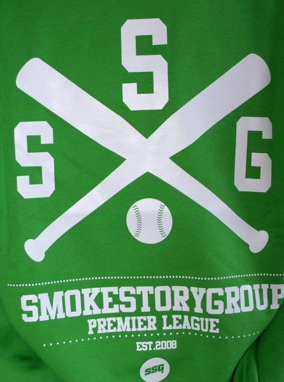 SSG SMOKE STORY GROUP BLUZA BASEBALL GREEN