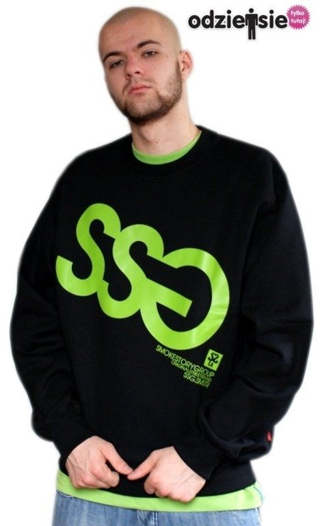 SSG SMOKE STORY GROUP BLUZA BIG BLACK-GREEN