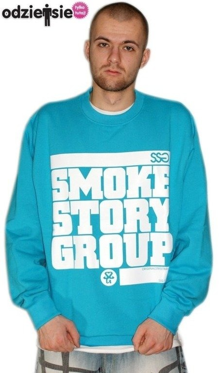 SSG SMOKE STORY GROUP BLUZA SM3 BLUE-WHITE