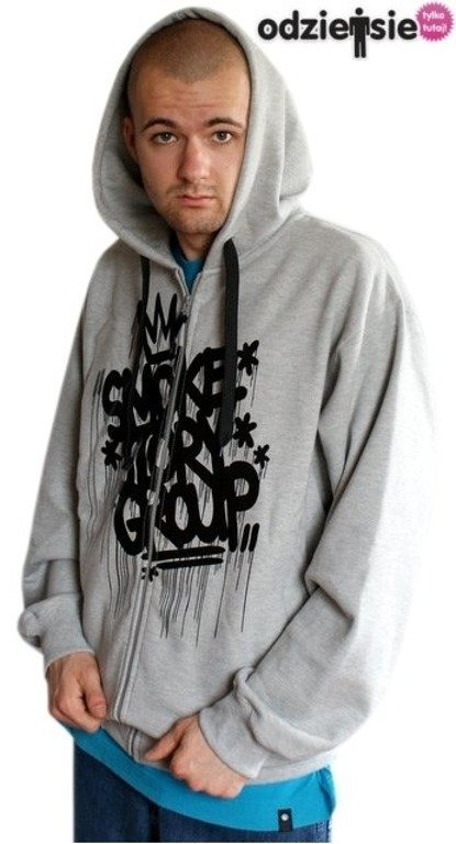 SSG SMOKE STORY GROUP BLUZA ZIP KORONA GREY