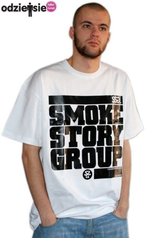 SSG SMOKE STORY GROUP KOSZULKA SM3 WHITE