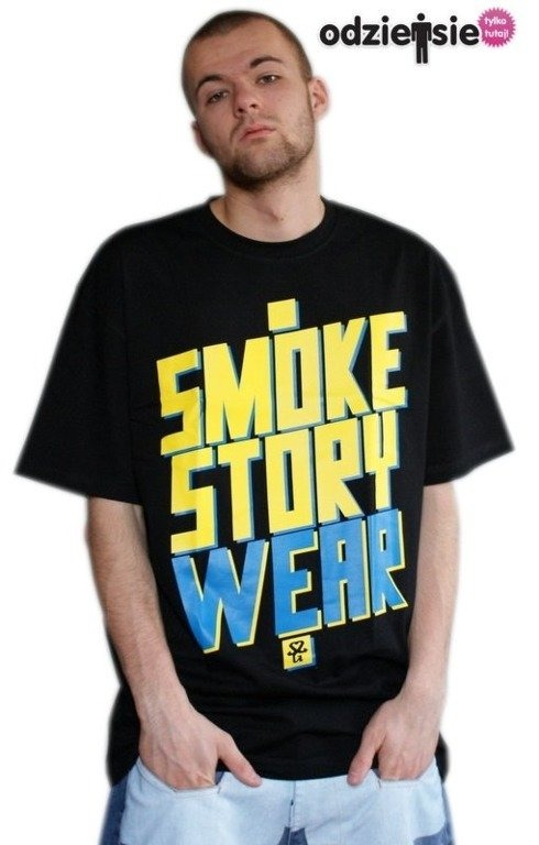 SSG SMOKE STORY KOSZULKA SM WEAR BLACK-YELLOW