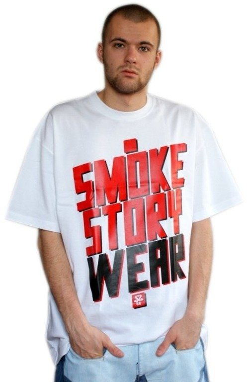 SSG SMOKE STORY KOSZULKA SM WEAR WHITE-RED