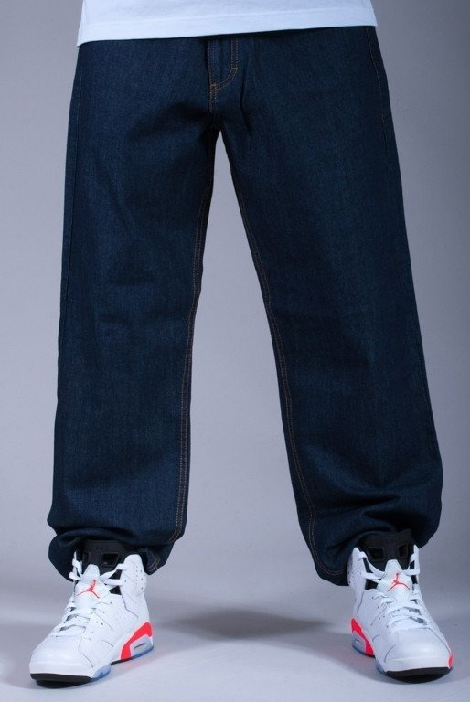SSG SPODNIE JEANS BAGGY KING NAVY BLUE