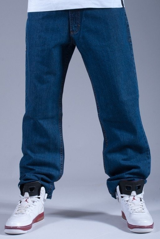 SSG SPODNIE JEANS REGULAR CALIGRAPHY  BLUE-RED