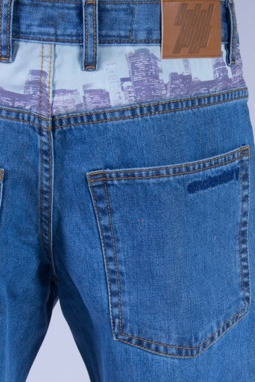 SSG SPODNIE JEANS REGULAR CITY LIGHT
