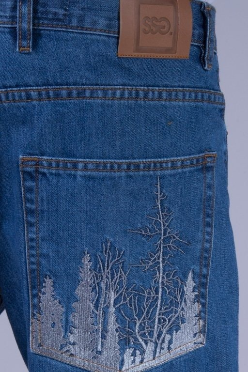 SSG SPODNIE JEANS REGULAR FOREST LIGHT