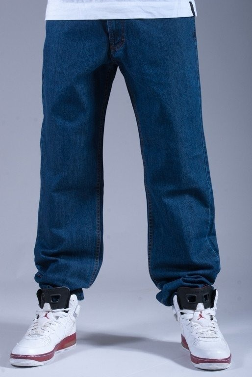 SSG SPODNIE JEANS REGULAR NEW LOGO BLUE-BLUE