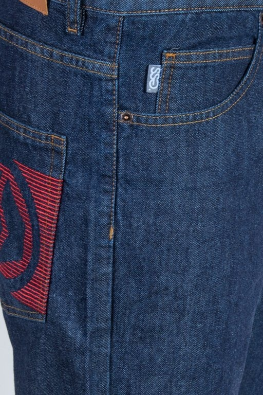 SSG SPODNIE JEANS REGULAR NEW LOGO DARK