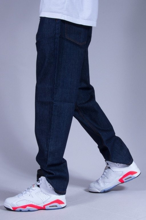 SSG SPODNIE JEANS REGULAR TAG DARK-BLUE
